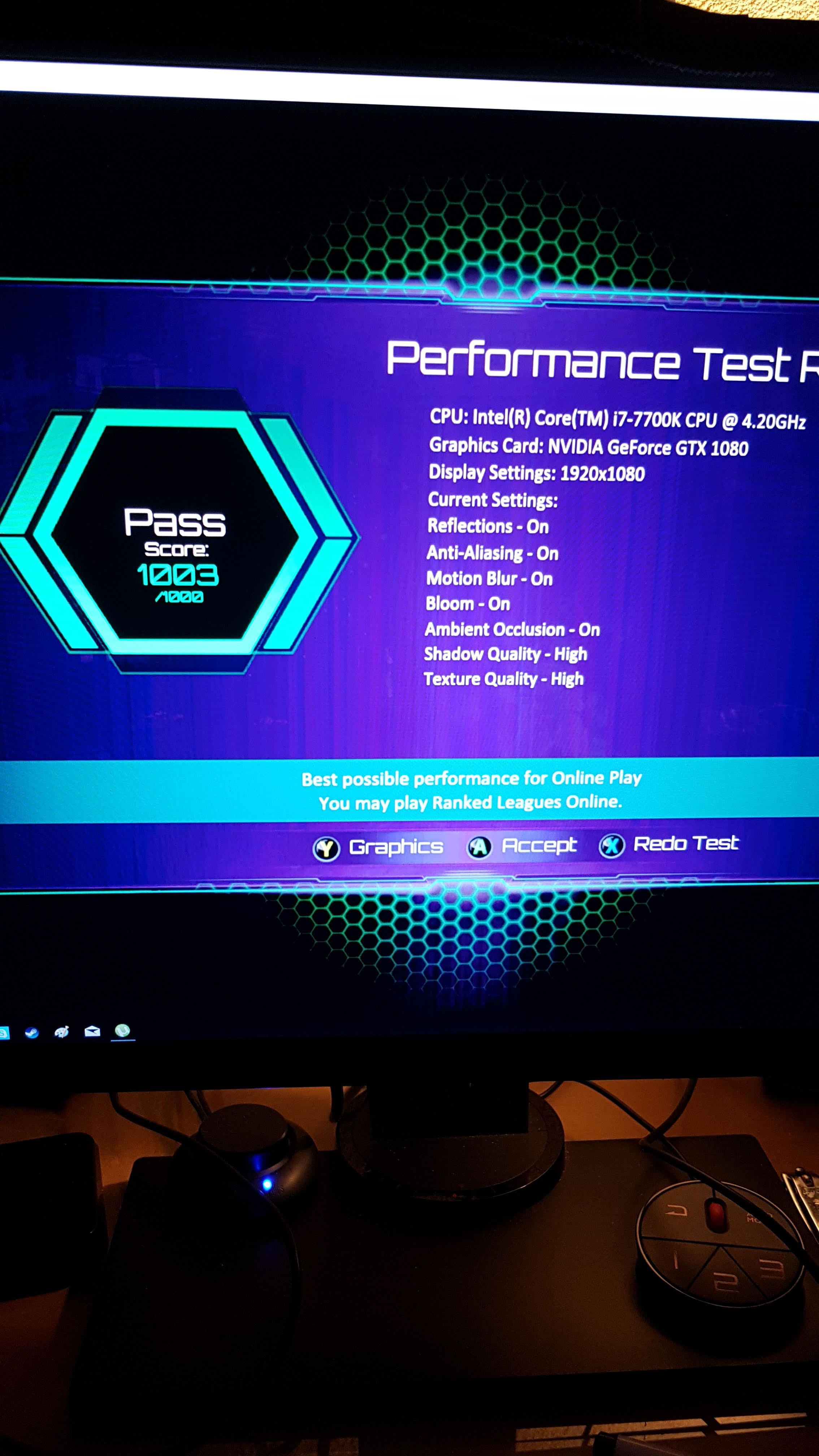 New pc setup bad performance test - General Discussion